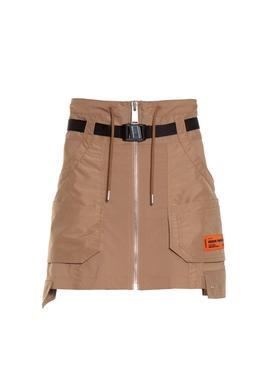 Caramel cargo skirt