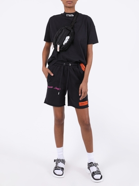 CONCRETE JUNGLE FLEECE SHORTS BLACK