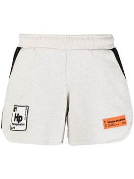 Pediodic elements logo jogging shorts GREY MELANGE WHITE
