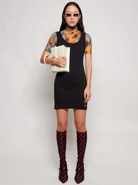 CLASSIC RIBBED TANK DRESS BLACK