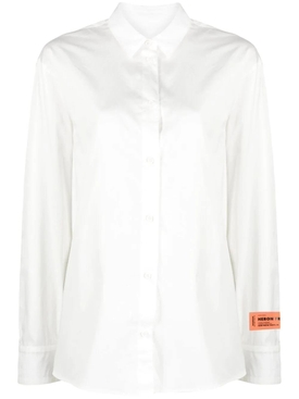 Open Back Long-sleeve Shirt, White