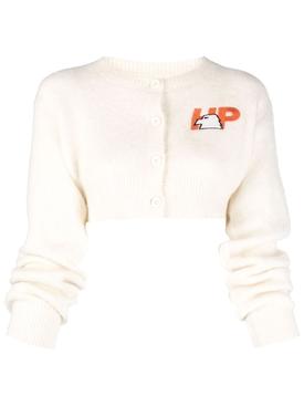 Mohair Cardigan HP Eagle Top Cream Orange