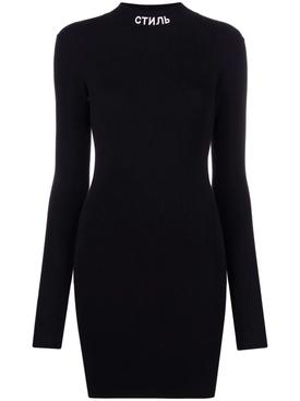TURTLENECK MINI DRESS BLACK