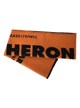 ORANGE AND BLACK LOGO SCARF