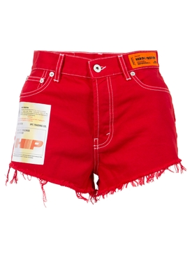 Garment Dyed Shorts Red