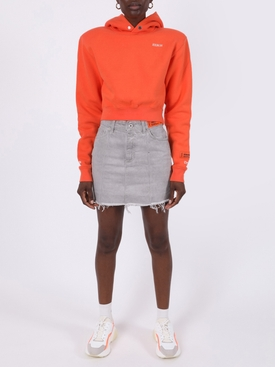 GREY WASH DENIM SKIRT