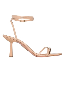 Isa wrap-around sandal nude