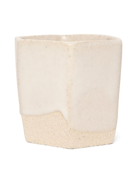 Raw Ground Clay Glass Ivory