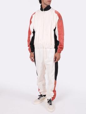 Moire paneled tracksuit jacket
