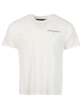 Distressed Thank You T-shirt, White