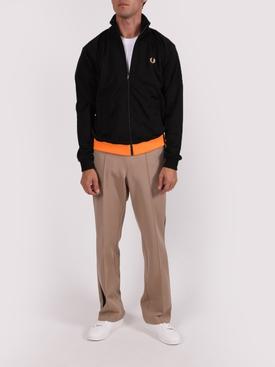 Zip-up track jacket BLACK