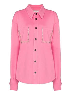 Pink button-down shirt