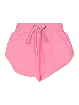 Bright pink embroidered jogging shorts
