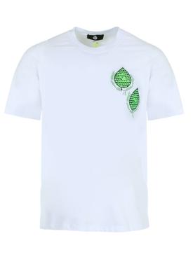 Leaf embroidered t-shirt