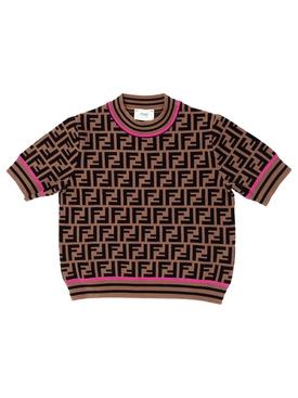 Kids Logo Print Knit Sweater