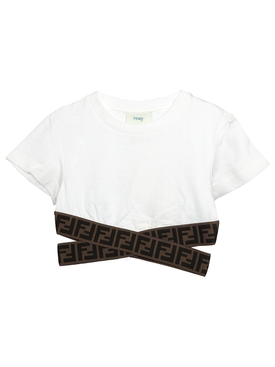 Girls FF Tape Logo Trim T-Shirt