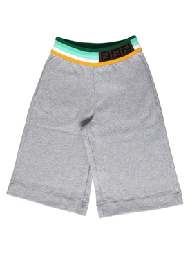 BERMUDA SHORTS WITH RACER STRIPE LOGO WAIST