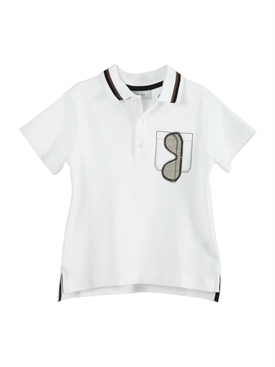 Sunglasses pocket polo shirt