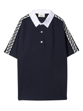 KIDS LOGO STRIPE POLO SHIRT