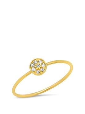 18K YELLOW GOLD CIRCLE RING WITH DIAMOND