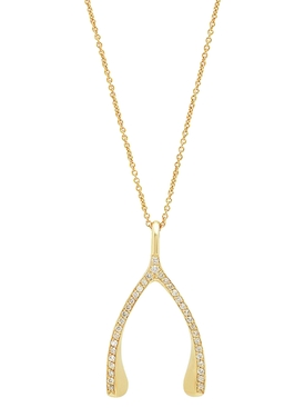 DIAMOND WISHBONE NECKLACE