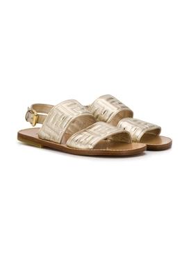 Gold FF Sandal