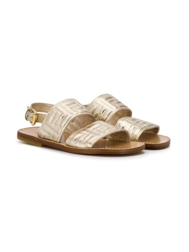 Fendi Kids - Gold Ff Sandal - Kids
