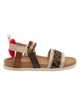 FF Red and Brown Flat Sandals