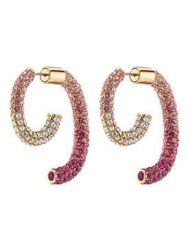 PINK PAVÉ OMBRE LUNA EARRINGS