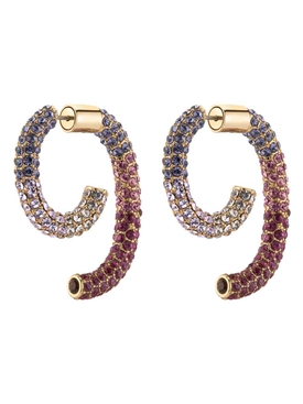PURPLE PAVÉ OMBRE LUNA EARRINGS