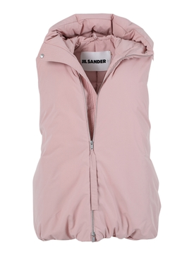 Peachy pink down vest