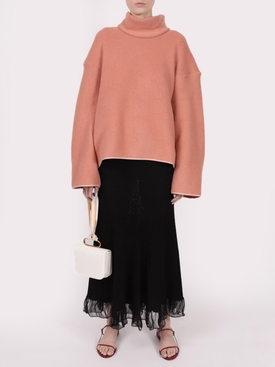 Rose cashmere blend sweater