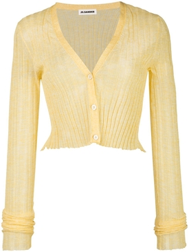 Jil Sander - Yellow Semi-sheer Cropped Cardigan - Women