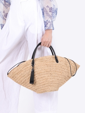 Sombrero top-handle bag NATURAL