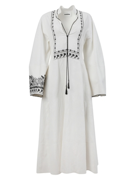 Antique white long-sleeve dress