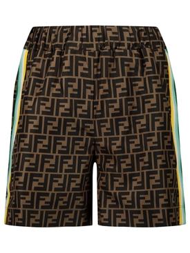 Kids FF Print Race Stripe Shorts