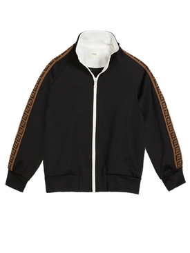 Kids black logo track jacket