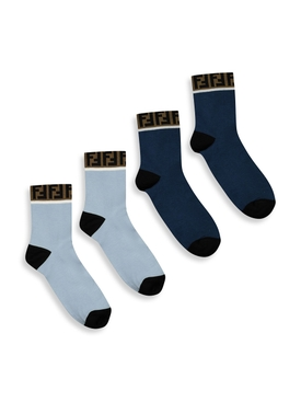 Logo trim socks, Navy