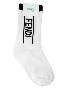 Kids white and black socks