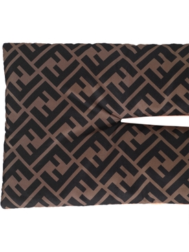 Kids FF Logo Print Reversible Quilted Scarf