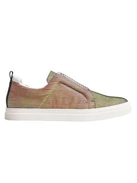 Striped Multicolored Slip-On Sneakers