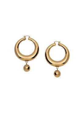Gold-tone Eco Brass Hoop Earrings