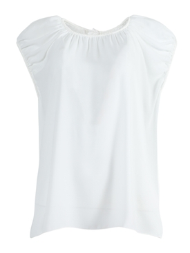 Off-white pleated top