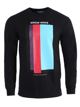 Volume Issue long-sleeve t-shirt black