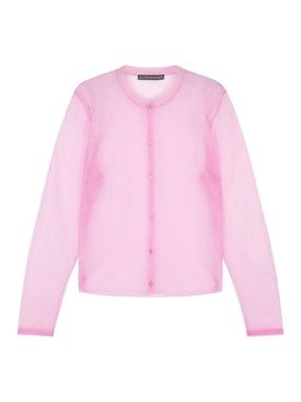 Pink Sheer Floral Cardigan