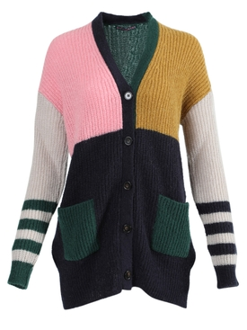 Alexachung - Over-sized Colorblocked Cardigan - Women
