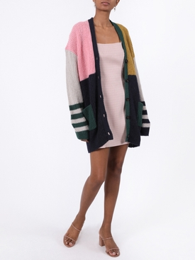 Over-sized colorblocked cardigan