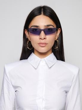 Kole Rimless Sunglasses Navy Blue