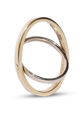 Echo Ring YELLOW AND WHITE GOLD