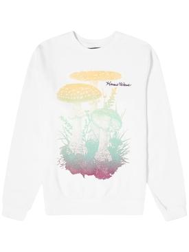 White mushroom sweatshirt